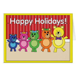 Holiday bears card with envelope