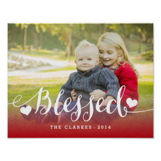 Holiday Blessings | Holiday Photo Poster