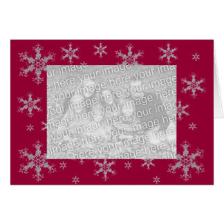 Holiday Card with Snowflakes