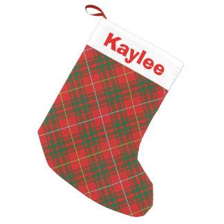 Holiday Charm Clan Bruce Tartan Small Christmas Stocking