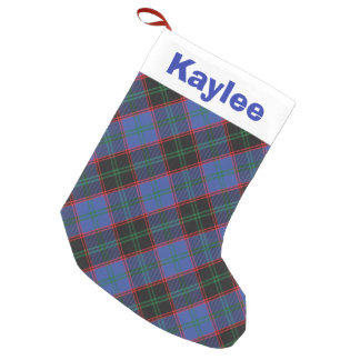 Holiday Charm Clan Home Hume Tartan Small Christmas Stocking