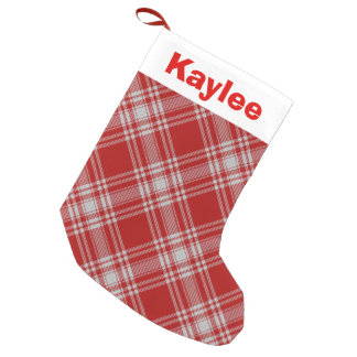 Holiday Charm Clan Menzies Red Tartan Small Christmas Stocking