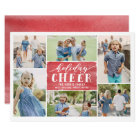 Holiday Cheer Collage Holiday Photo Card