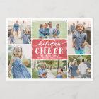 Holiday Cheer Collage Holiday Photo Card
