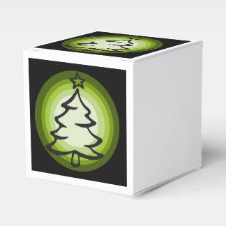 Holiday Christmas tree favor box