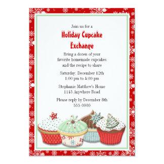 Holiday Cupcake Exchange 13 Cm X 18 Cm Invitation Card