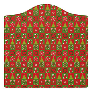 Holiday Decorative Squares Door Sign