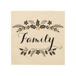 Holiday, Family sign decoration