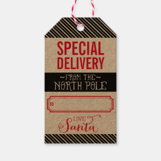 HOLIDAY GIFT TAG special delivery from santa kraft