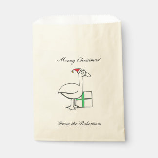 Holiday Goose Favor Bags Favour Bags