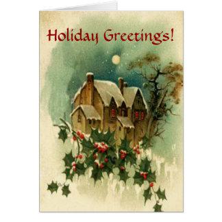 Holiday Greetings Christmas Greeting Card