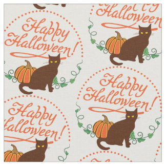 Holiday greetings from black cat fabric