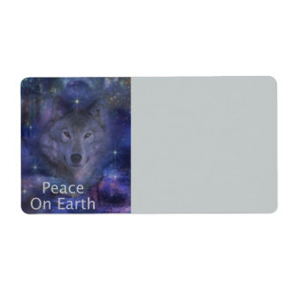 Holiday Greetings - Season's Greetings - And Peace Shipping Label