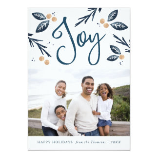 Holiday Joy - Christmas Photo Card