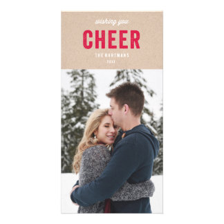 Holiday Kraft Photo Card Template
