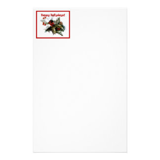 Holiday Letterhead Paper - Happy Hollydays design Stationery Design