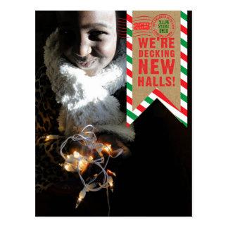 Holiday Moving Deck New Halls Postcard