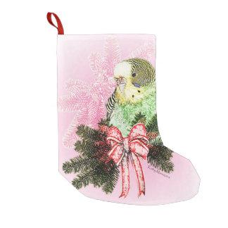 Holiday Parakeet Christmas Stocking