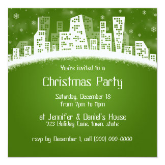 Holiday Party In The City Invitations