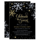 Holiday Party Invitations | Silver and Gold
