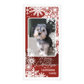 Holiday Photo Card: Let It Snow! Burgundy