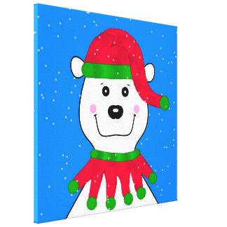 Holiday Polar Bear Canvas