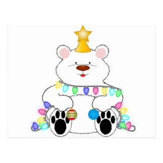 Holiday Polar Bear Postcard