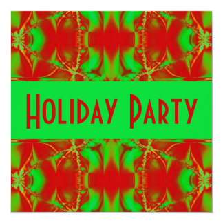 Holiday red green card