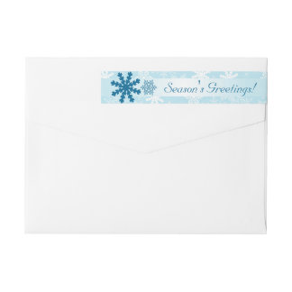 Holiday Return Address Label  | Season's Greetings Wraparound Return Address Label