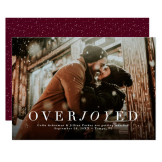 Holiday save the date photo card