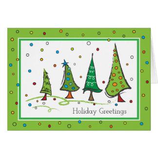 Holiday Seasonal Trees Greeting Card