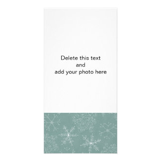Holiday Snowflakes Pattern Photo Card Template