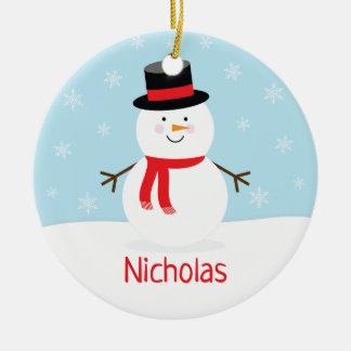 Holiday Snowman Christmas Ornament