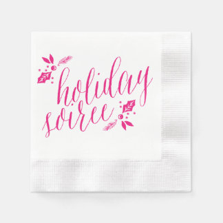 Holiday Soiree Napkins Paper Napkins