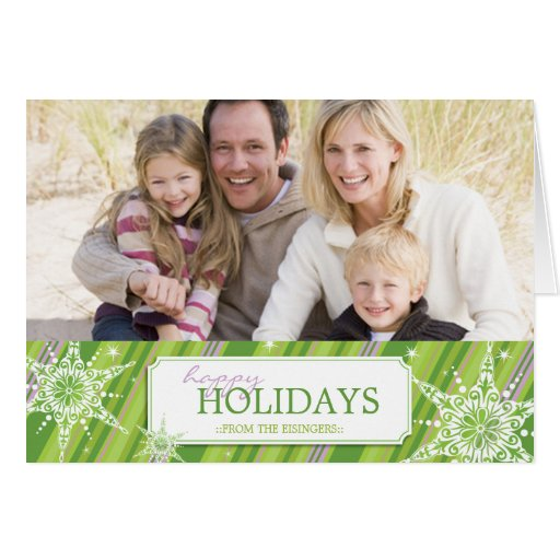Holiday Sparkle Greetings B - Green Cards