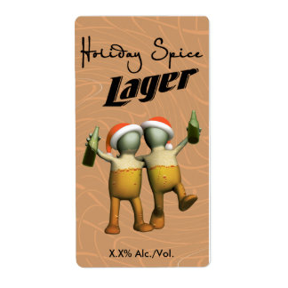 Holiday Spice Lager Shipping Label
