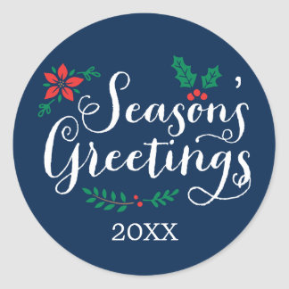 Holiday Sticker Seals   Season's Greetings