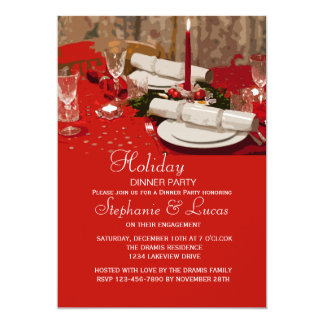 Holiday Table Dinner Party Invitation