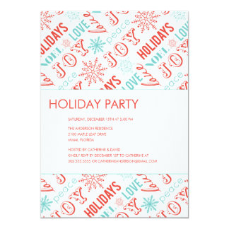 HOLIDAY TYPE  | HOLIDAY PARTY INVITATIONS