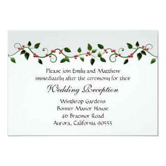Holiday Wedding Reception Directions Invitation
