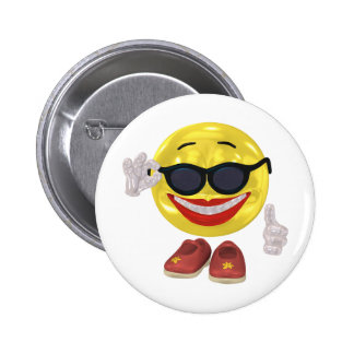 Holiday Woman Smiley 6 Cm Round Badge