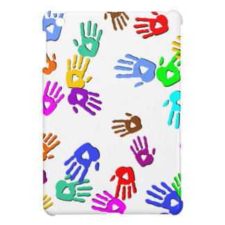 holiES - hands colored pattern 1 + your backgr. Case For The iPad Mini