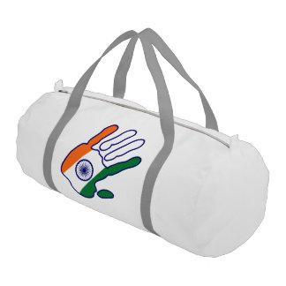 holiES - India Flag Hand Gym Duffel Bag