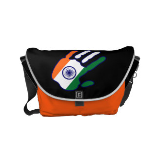 holiES - India Flag Hand + your ideas Messenger Bags