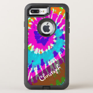 holiES - Power Spiral Batik Style OtterBox Defender iPhone 8 Plus/7 Plus Case