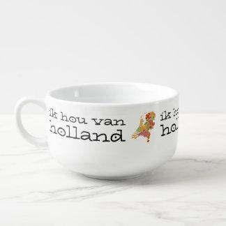 Holland Province Map Bohemian Patchwork Style Soup Mug