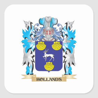 Hollands Coat of Arms - Family Crest Square Sticker