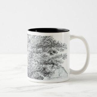 Hollow Tree at Hampstead, 1663 Two-Tone Coffee Mug