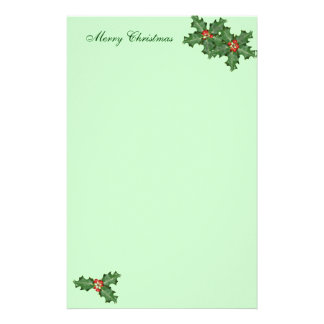 Holly and Berries, Christmas Writing Paper Stationery Paper