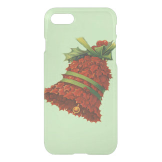 Holly Bell Poinsettia Green Ribbon Winterberry iPhone 8/7 Case